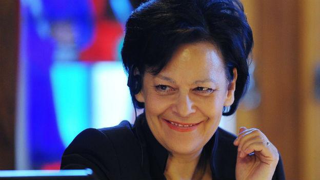 Noch hat sie gut lachen: Regierungsrätin Ursula Gut an der Budgetdebatte im Zürcher Kantonsrat.