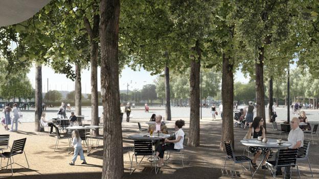 Doch nicht mehr Platz zum Flanieren: Der Regierungsrat stoppt den geplanten Abbau einer Fahrspur am Bellevue in Zürich.