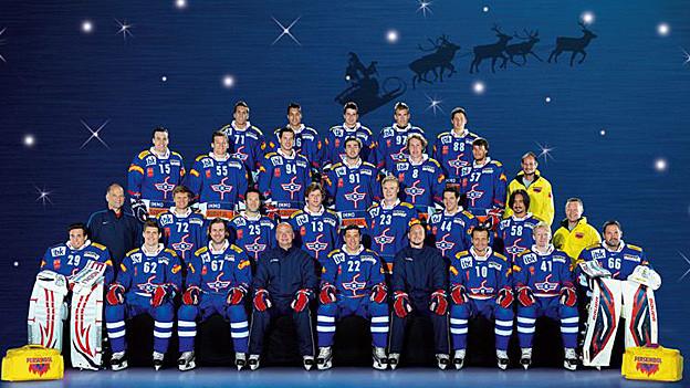 Weihnachtsgrüsse der Kloten Flyers. Den Club gibt es auch in der Saison 2012/13.