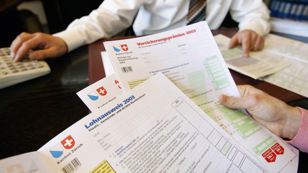 Bild einer Zürcher Steuererklärung.