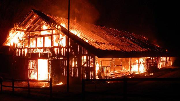 Über 30 Brände soll der Feuerteufel von Elgg gelegt haben - auch in der Reithalle.