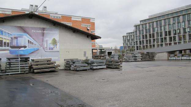 Direkt neben dem Technopark soll die Container-Siedlung entstehen.