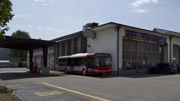 Aussenansicht Busdepot Deutweg in Winterthur
