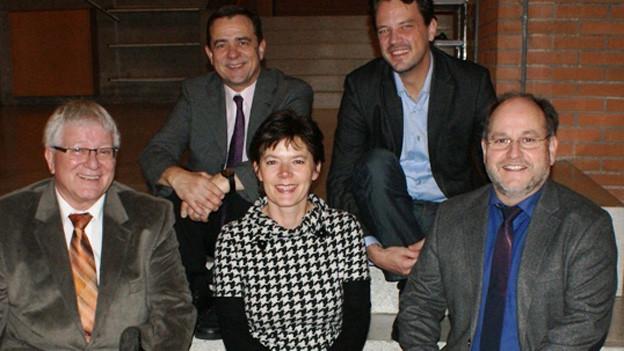 Der Gemeinderat von Wettswil am Albis, vorne links Hans-Peter Eichenberger