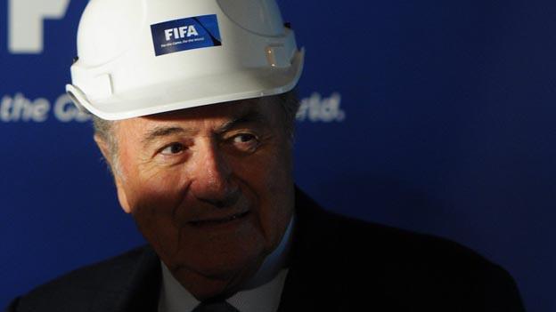 Sepp Blatter gibt den Startschuss für das FIFA-Museum.