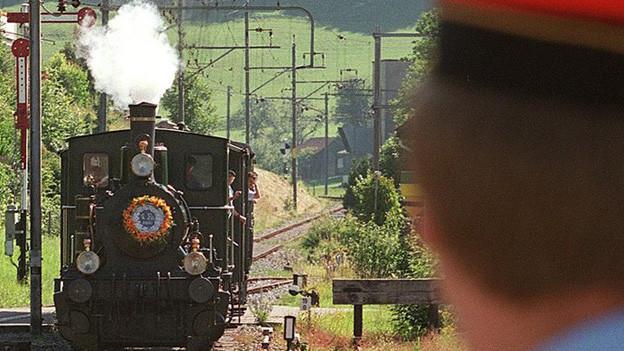 Eine Dampfbahn im Tösstal