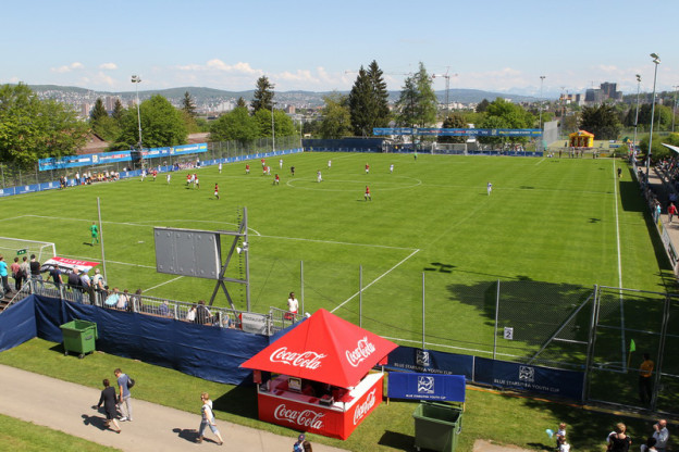 Ansicht des Sportplatz Buchlern in Zürich-Altstetten