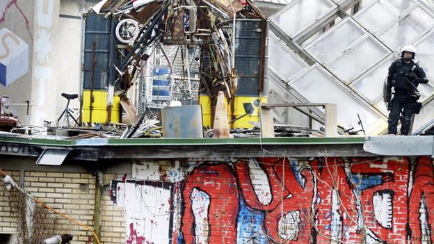 Die besetzte Fabrik in der Binz: Bald eine Räumung?