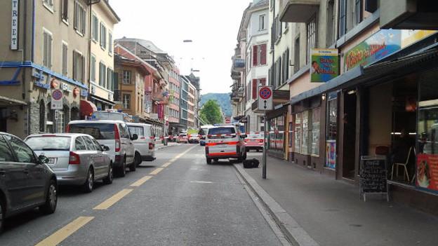 Die Zürcher Langstrasse war wegen des Polizeieinsatzes für mehrere Stunden gesperrt