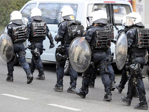 Noch kein Polizeieinsatz in der Binz: die Besetzer scheinen abgezogen zu sein.