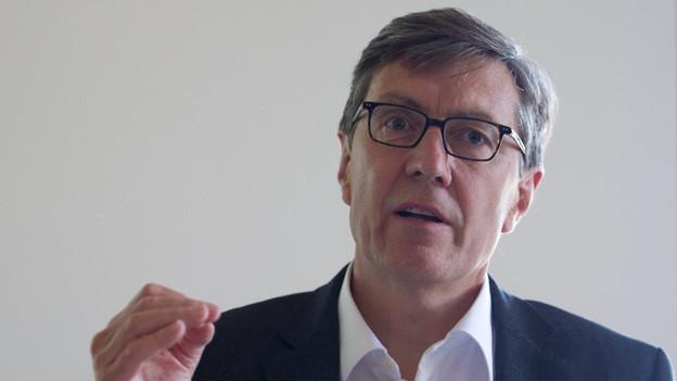 Stadtrat Martin Waser präsentierte die Zahlen der Sozialhilfe Zürich.
