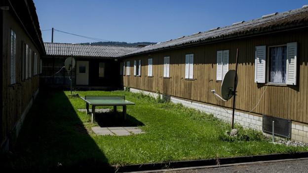 Hier wohnen in Zukunft die Asylbewerber im Schnellverfahren: Juch-Areal in Altstetten.