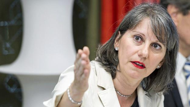 Barbara Büschi vom Bundesamt für Migration stellt die neuen Pläne vor.