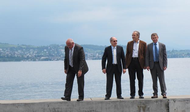 Zwei Regierungsräte und zwei Chefplaner für die Zukunft des Zürichsees