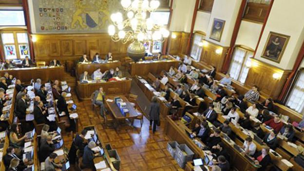 Der Parlamentssaal im Zürcher Rathaus.