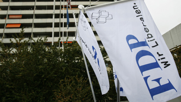 Die FDP-Flagge.