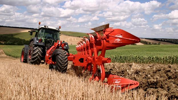 Gefragte Pflüge: Bucher geschäftet gut mit den Landmaschinen.