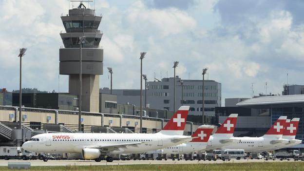 Der Flughafen Zürich.