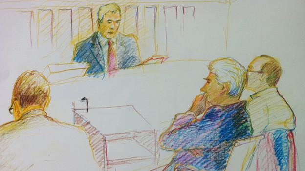 Kindstötung in Winterthur: Der Angeklagte und sein Verteidiger vor dem Richter