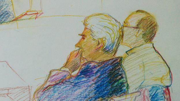 Etwas versteckt: Rechts im Bild der verurteilte Vater.