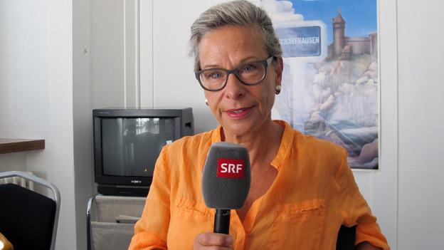 Rosmarie Widmer Gysel verteidigt Steuererhöhung in SH