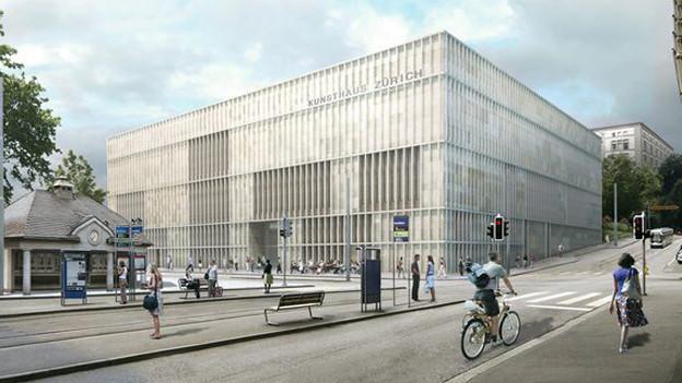 Ist umstritten: Der geplante Kunsthaus-Erweiterungsbau