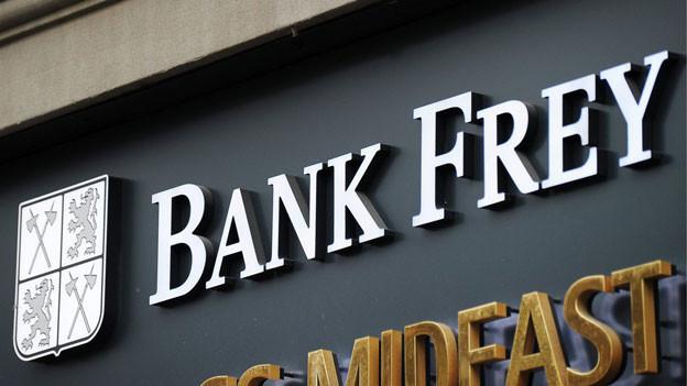 Gibt es nicht mehr: Die Bank Frey stellt ihr Geschäft ein.