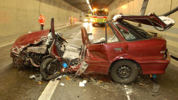 Am Ostportal des Gubristtunnels gibt es jährlich über 100 Unfälle..