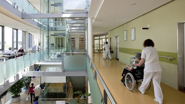 Blick in das Zürcher Waidspital