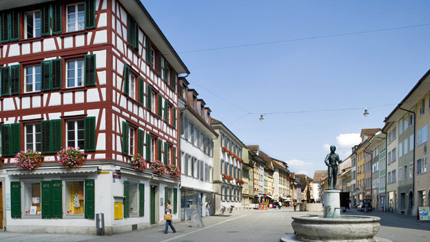 Ansicht der Altstadt von Winterthur.