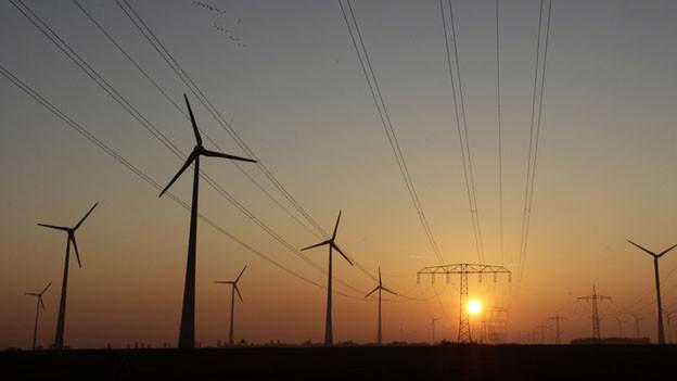 Windkraftwerke in Deutschland.