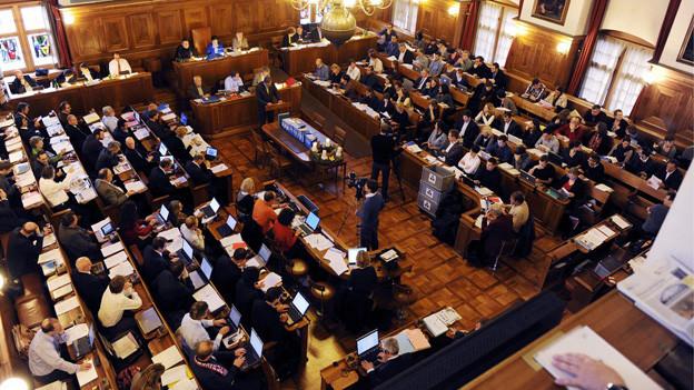 Vier Tage lang dürfte die Budgetdebatte im Zürcher Gemeinderat dauern.