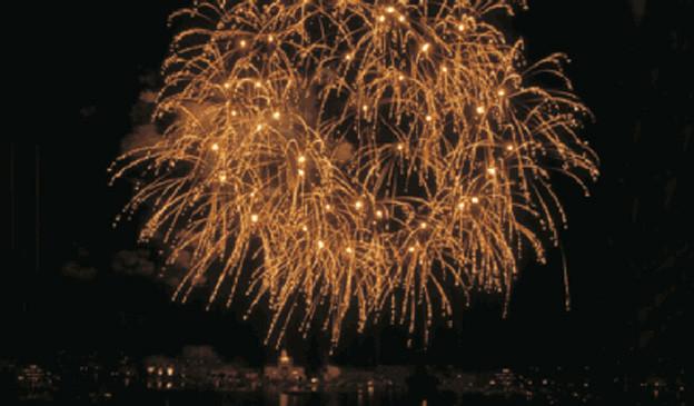 Feuerwerk am Zürcher Silvesterzauber.