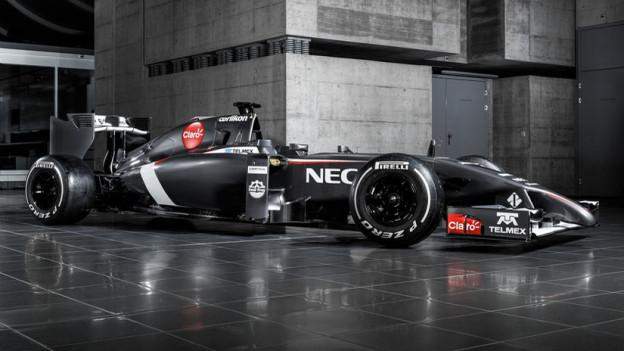 Der neue Rennwagen von Sauber, der am 26.1. präsentiert wurde