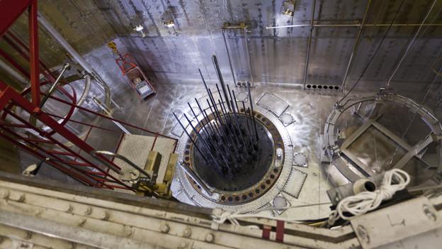 Blick in den Reaktorkern des AKW Beznau