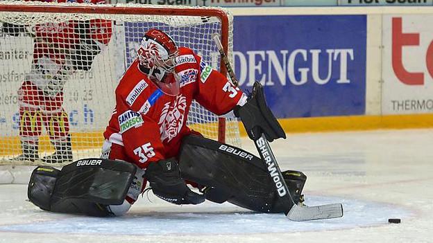 Eishockeyaner spielen auf dem Eisfeld