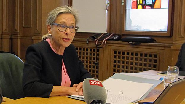 Die Schaffhauser Finanzdirektorin Rosmarie Widmer.