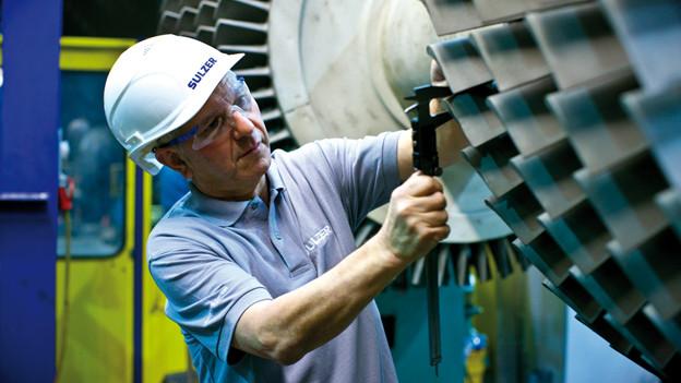 Bild in Lightbox öffnen. Bildlegende: Pumpen und Turbinen sind eines der drei Schwerpunktfelder von Sulzer.