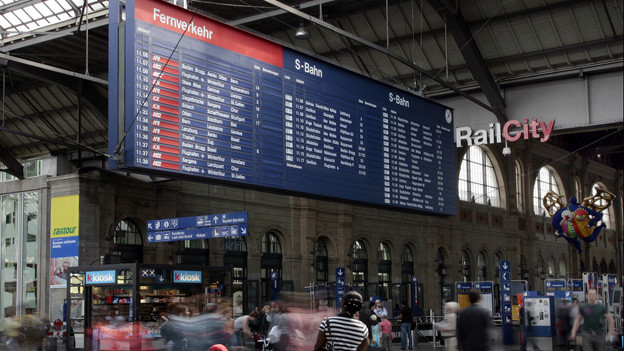 Anzeigetafel am Hauptbahnhof Zürich
