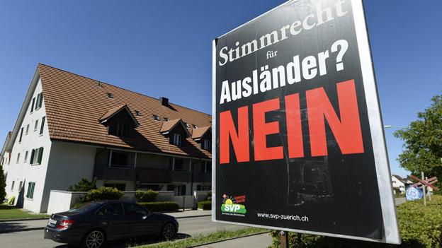 Im Kanton Zürich war eine Initiative für ein fakultatives Ausländerstimmrecht auf Gemeindeebene im Herbst 2013 chancenlos