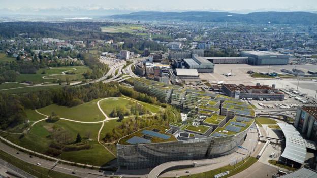 Visualisierung «The Circle» am Flughafen Zürich