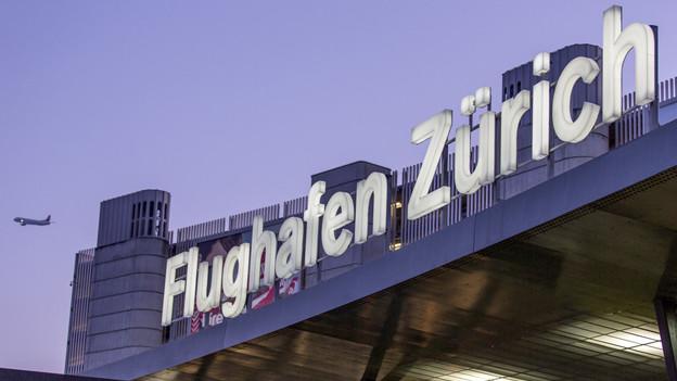 Schriftzug Flughafen Zürich