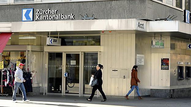 ZKB-Filiale in Zürich.