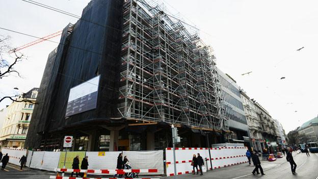 Zara-Baustelle in Zürich