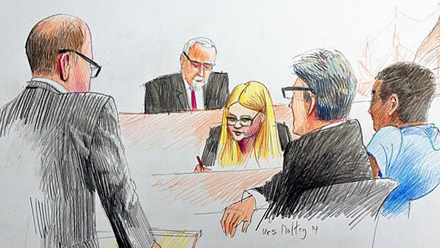 Der Sex mit dem jüngsten Opfer sei keine Vergewaltigung gewesen, sagte der Angeklagte (rechts) vor Gericht.