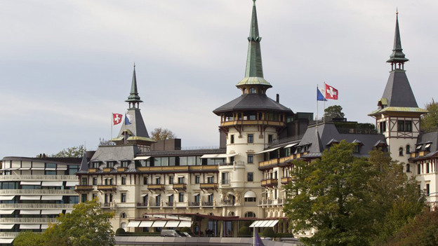 Das Fünsternhotel Dolder Grand in Zürich