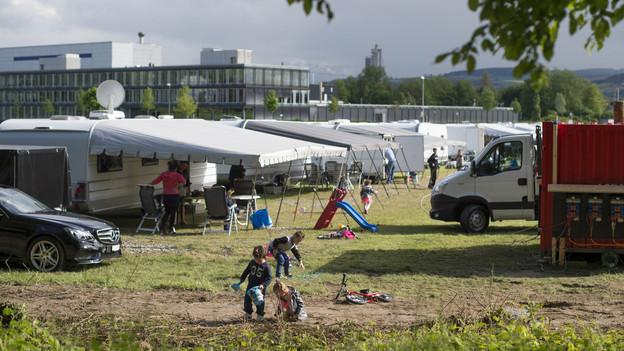 Die Jenischen haben sich für einen Standplatz in Schaffhausen eingesetzt - mit Erfolg (im Bild: ein Standplatz in Bern).