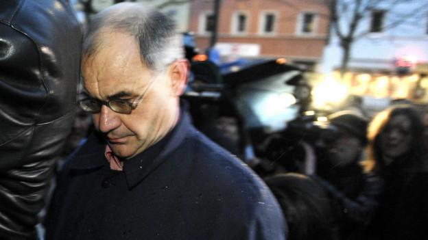 Rudolf Elmer stand bereits im Januar 2011 vor dem Zürcher Bezirksgericht.