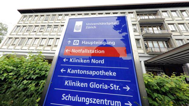 Das Universitätsspital Zürich muss umfassend saniert werden.