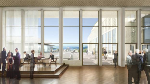 Visualisierung des künftigen Kongresshauses in Zürich.